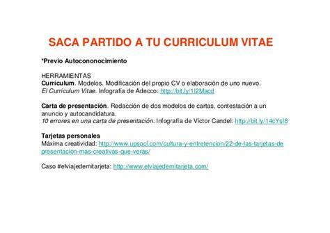 Modelo Curriculum Sepe taller b 250 squeda activa de empleo