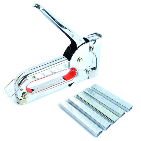 upholstery tacker hyfive staple gun fabric upholstery tacker 1000