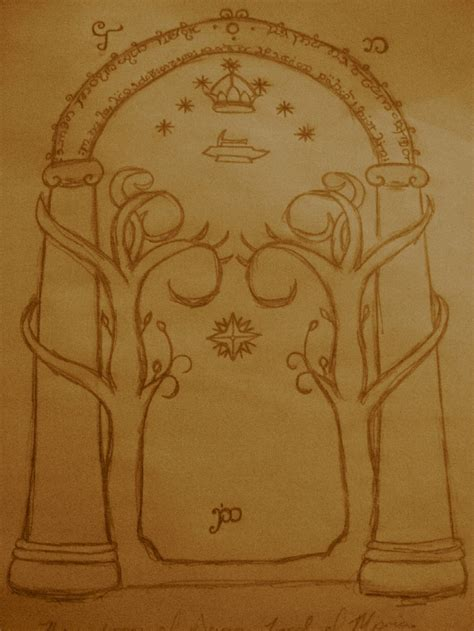doors of durin by leoma0 on deviantart