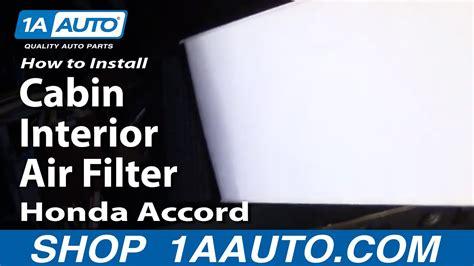 install replace cabin interior air filter honda