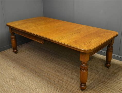 Vintage Oak Dining Table Quality Antique Oak Wind Out Extending Dining Table 246779 Sellingantiques Co Uk