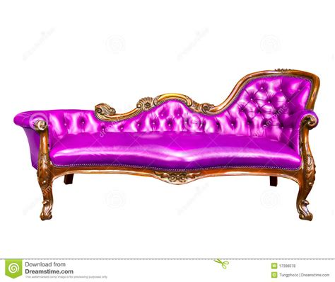 Purple Leather Armchair Luxury Purple Leather Armchair Isolated Royalty Free Stock