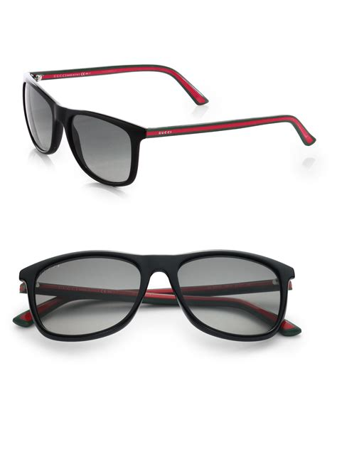 gucci shades for gucci injected propionate two two wayfarer sunglasses in black for lyst