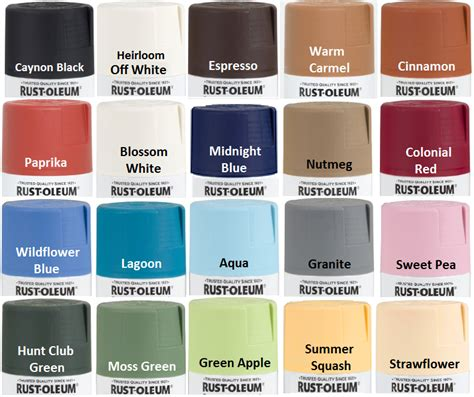 our rust oleum satin spray paint