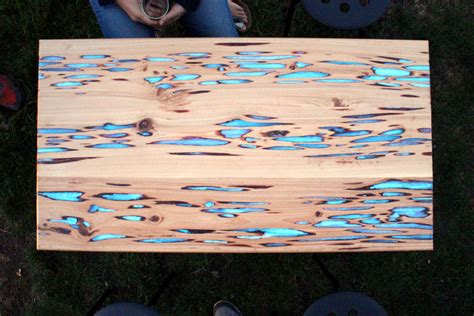 glow in the table diy glow in the table the awesomer