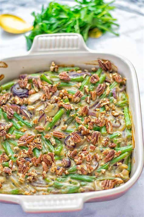 green bean casserole  maple pecans contentedness cooking