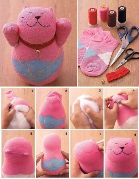 diy out of socks make a cat using socks find projects to do at