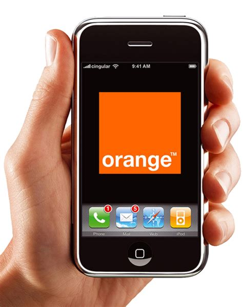 orange mobile apple turns orange mobiles