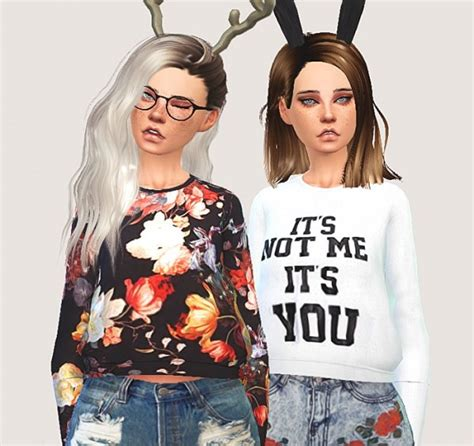 sims 4 custom content top sims 4 downloads pure sims cropped sweatshirts sims 4 downloads