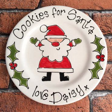 ideas for christmas plate designs personalised cookies for santa gift plate 20cm plate ideas personalized cookies