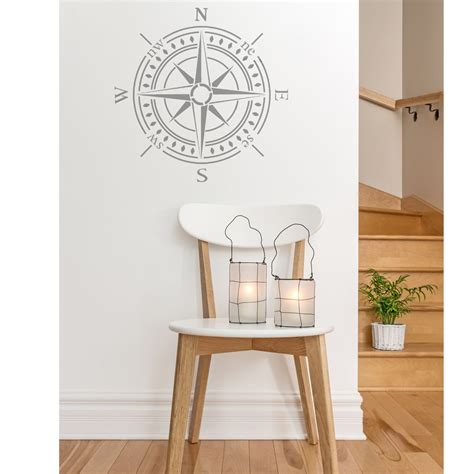 wall stencils compass bearing stencil large stencil for diy walls decor