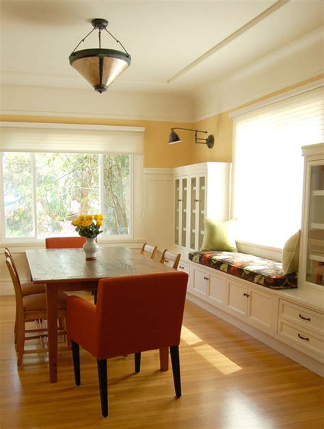 Dining Room Window Seat by Niche Interiors San Francisco Interior Design Services