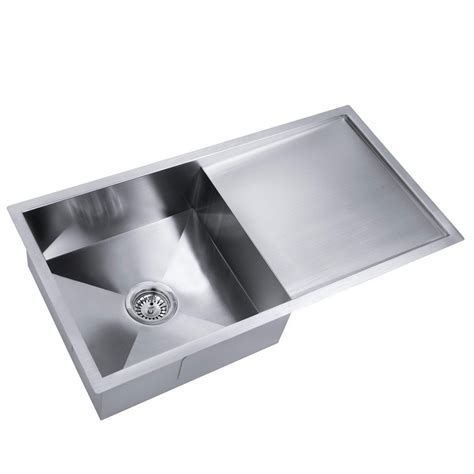 Stainless Steel Kitchen Laundry Sink With Draining Board Draining Kitchen Sink