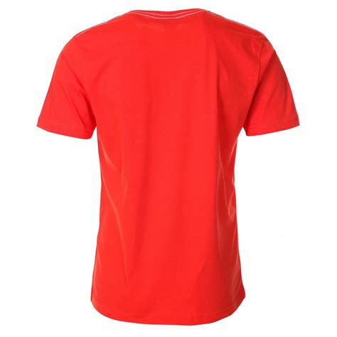 t shirt mens red t shirt with printed slogan