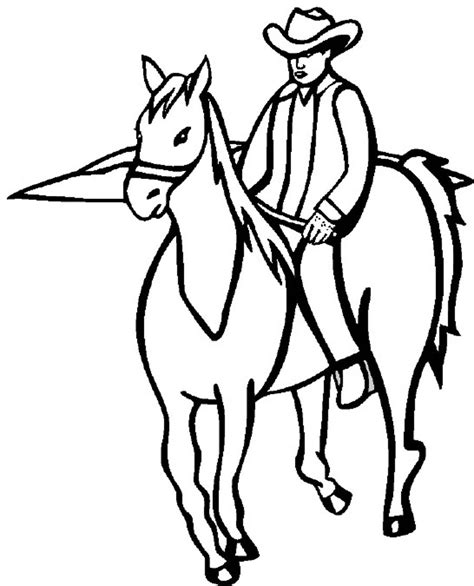 cowboy horse coloring page cowboy coloring pages to download and print for free