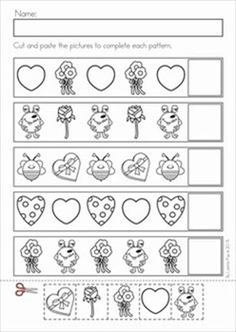 kindergarten pattern unit fall math cut and paste activities kindergarten math
