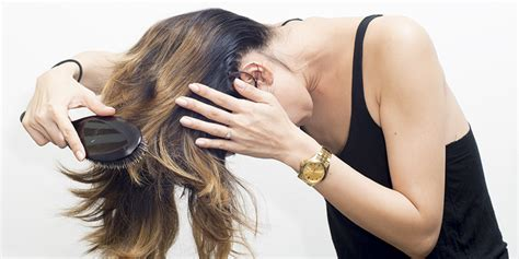 flip hair upsidedown and cut 30 unrevleaed tips on how to make your hair grow faster