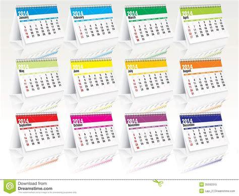 Calendar Set 2014 Desk Calendar Set Royalty Free Stock Photo Image