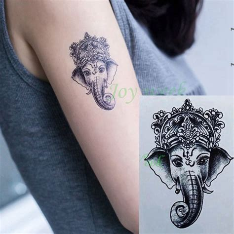 Tato Tatto Temporary Tatto Kecil Tatto Sayap 10 5x6 Cm X 460 elephant ganesh temporary sticker