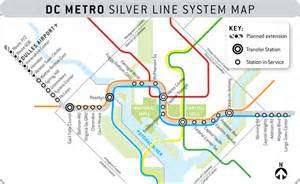 Silver Line Dc Metro Map by First Phase Of D C Metro S Silver Line Opens Travel Weekly