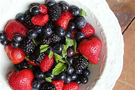 Mix Berry mixed berries and mint with berry shrub recipe saveur