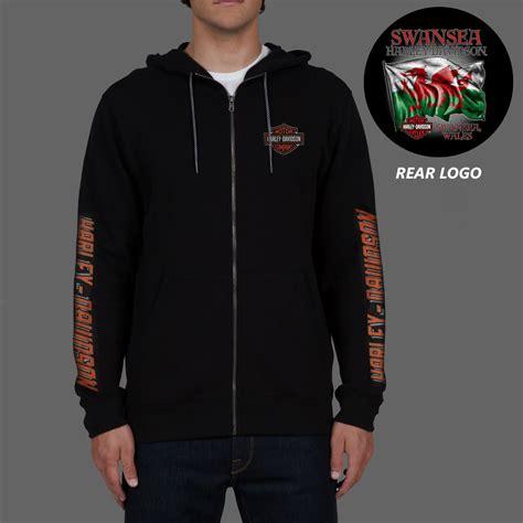 harley davidson mens last mile black zip hoodie ebay