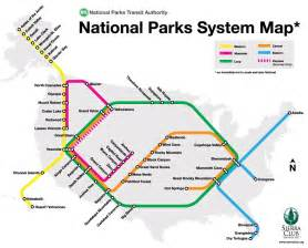 national parks system map visual ly
