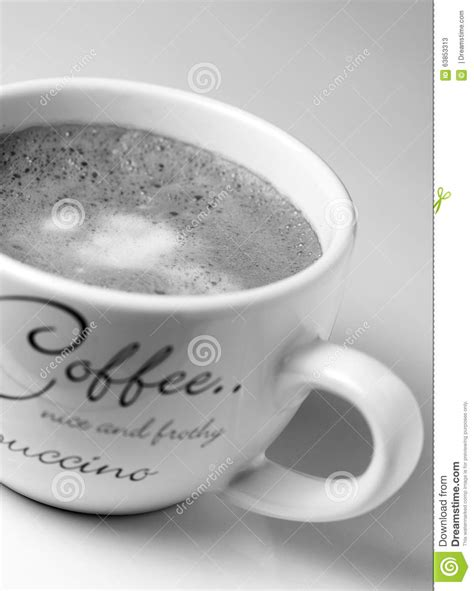 Meet U White Coffee black and white coffee in cup stock photo image 63853313