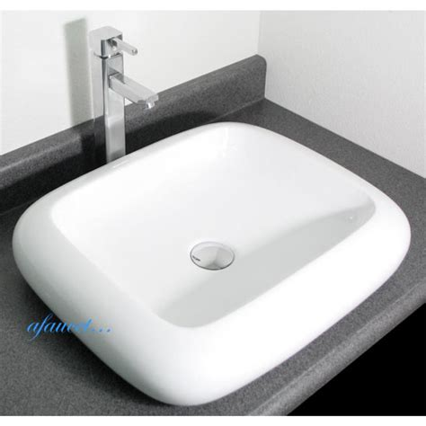 bathroom countertops for vessel sinks rounded edge rectangular porcelain ceramic countertop