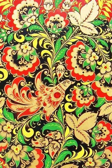 russian pattern art russian traditional khokhloma painting folk art