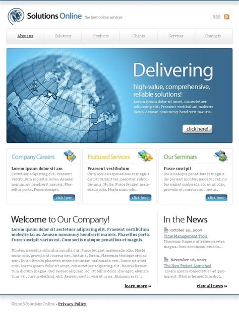 free html templates for advertising company free css web templates