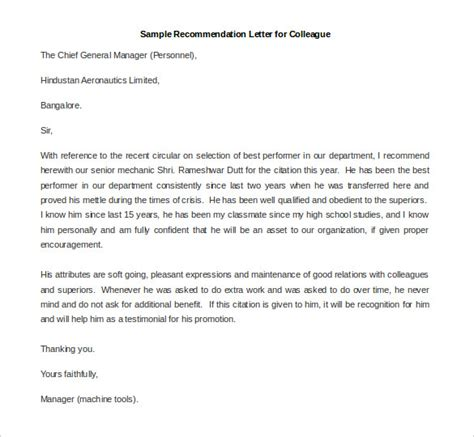 Letter Of Recommendation For Mba From Colleague by 30 Recommendation Letter Templates Pdf Doc Free