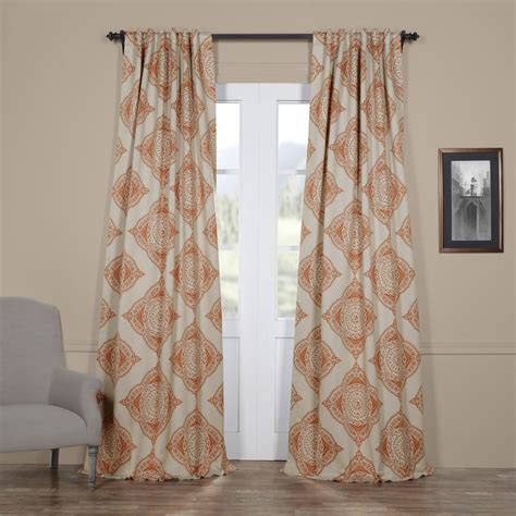 Blackout Curtains For Media Room Henna Orange 50 X 96 Inch Blackout Curtain Half Price Drapes Drapery Sets Window