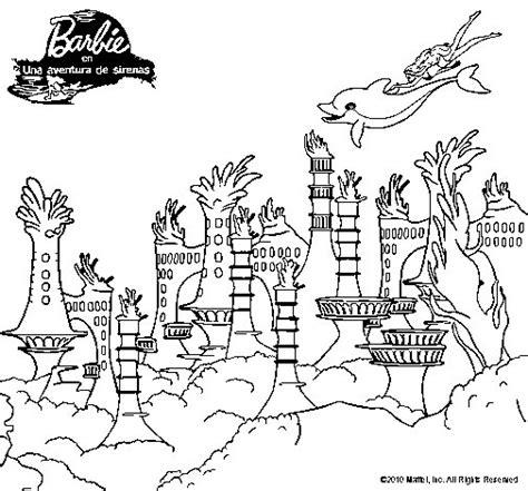 ciudad de dibujos para colorear dibujo de la ciudad de las sirenas para colorear dibujos net