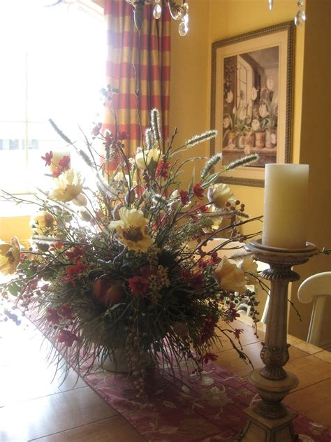 silk flower arrangements for dining room table lush simple dining room table floral arrangements best