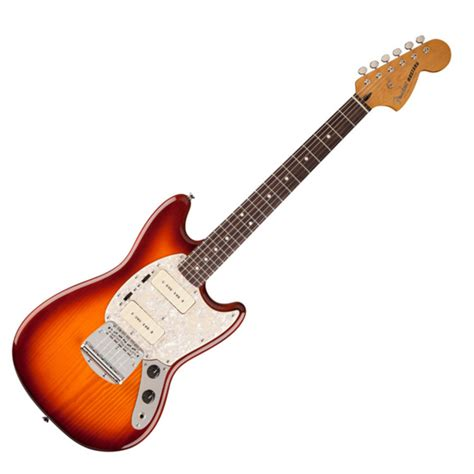 fender modern player mustang electric guitar honey burst