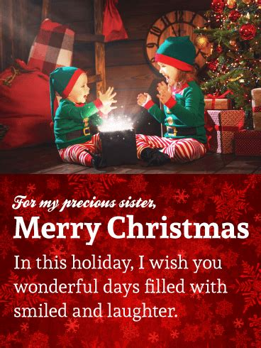 christmas cards  sister birthday greeting cards  davia  ecards