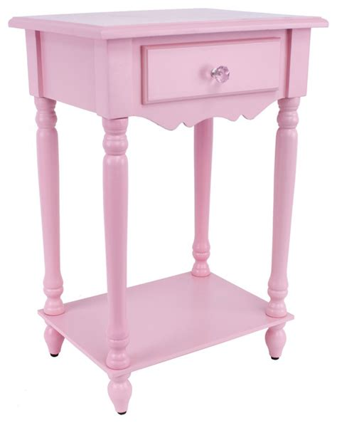 Pink Side Table Light Pink Accent Table Contemporary Side Tables End Tables By Overstock