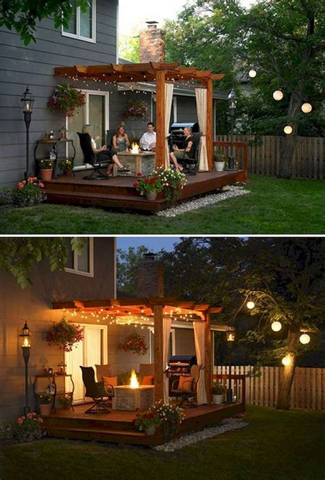 backyard patio lighting ideas best 25 backyard deck designs ideas on decks