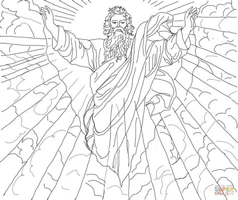 First Day Of Creation Coloring Page Free Printable Creation Color Pages