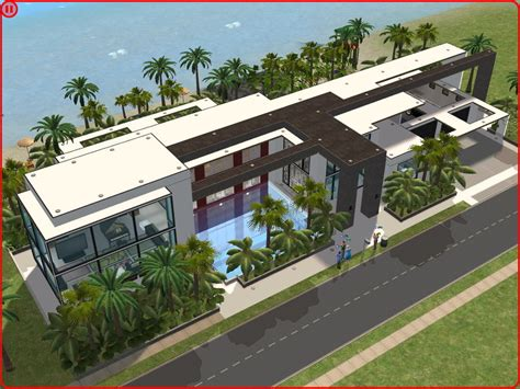 sims 2 house designs sims 2 modern beach house by ramborocky the sims house