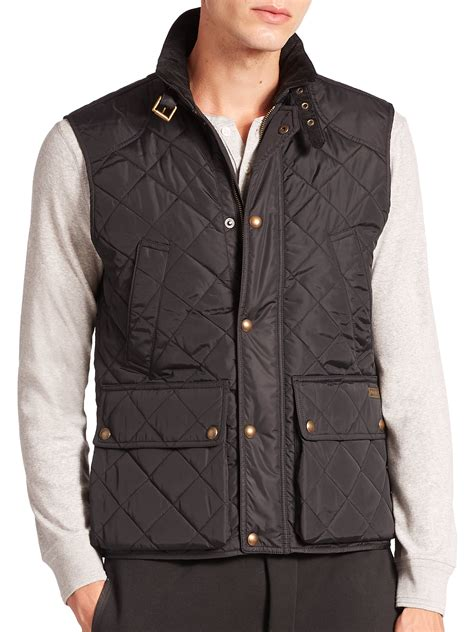 Polo Quilted Vest by Polo Ralph Southbury Quilted Vest In Black For