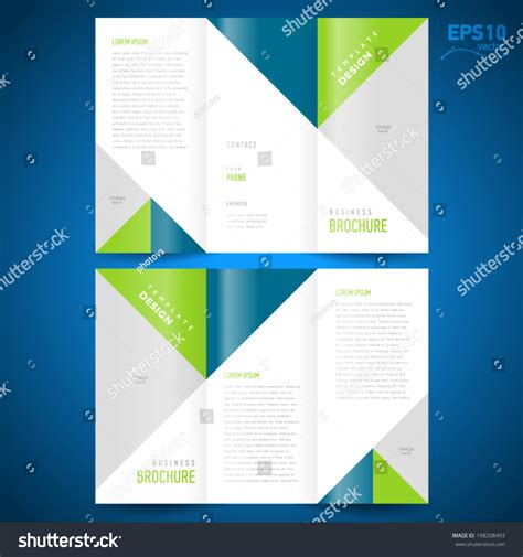 how to design a mailer templates brochure design template triangles figure frame for
