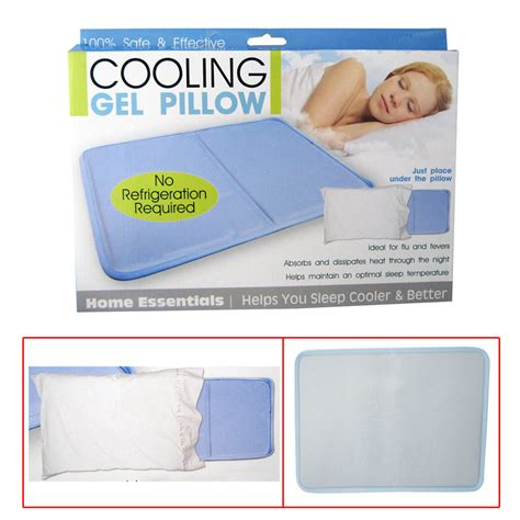 Pillow Cooling Gel by Cooling Gel Insert Pillow Soothsoft Comfort Pad Device Resting Sleeping On Tv Ebay
