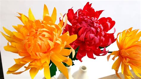 How To Make Paper Mums - how to make easy paper flowers chrysanthemum mums