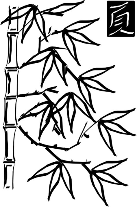 bamboo tree coloring page bamboo 3 clip art at clker com vector clip art online