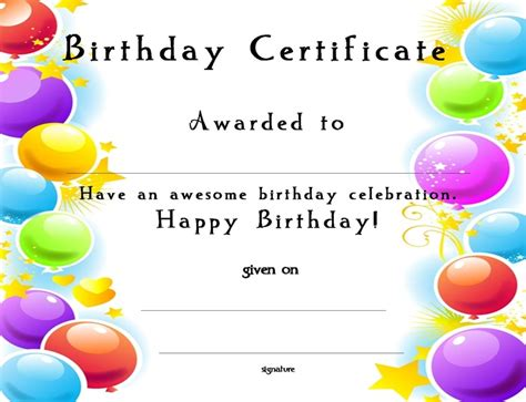 printable happy birthday gift certificates 17 best images about church certificates on pinterest