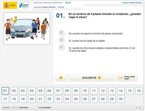 numero de preguntas examen de conducir dgt test para obtener el carnet de conducir simulador