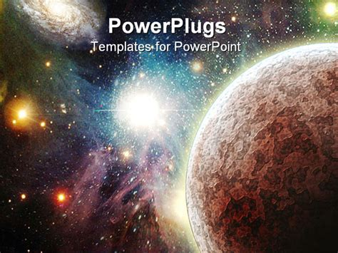 powerpoint template view   universe  planets