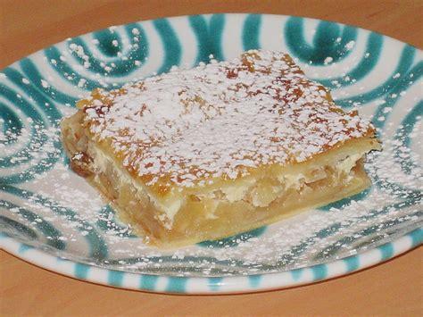 kuchen mit apfelmus und pudding bl 228 tterteig apfelschnitten rezept mit bild rocky73